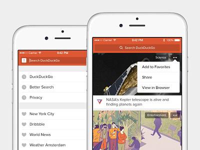 DuckDuckGo for iPhone ux ui app mobile iphone
