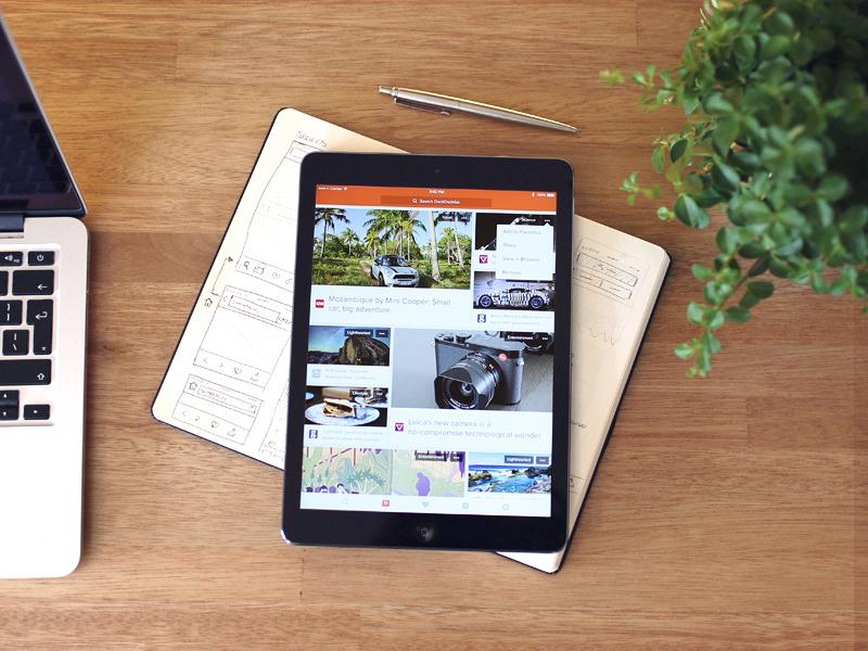 DuckDuckGo for iPad mobile layout ux ui app duckduckgo ios tablet ipad