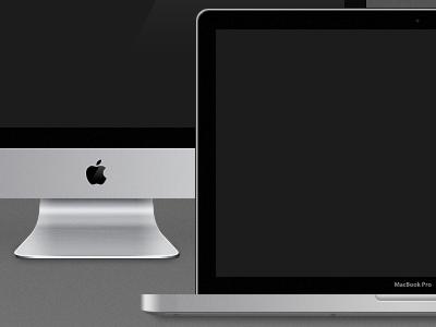 MBP & iMac Freebies free freebie apple mockup product goodie download psd vector imac macbook pro