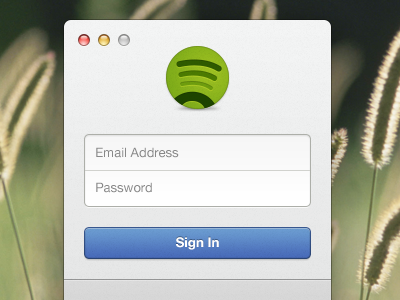 Spotify Login Window spotify login window alignment icon buttons ui interface ux redesign form