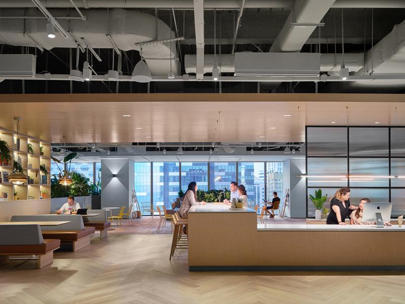 The brand new Singapore Zendesk office materials branding architecture interior design interior architecture office design