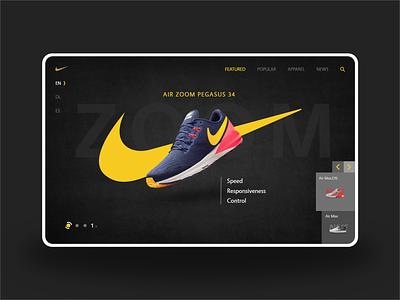 Nike - E-commerce Web Design app designers landing page branding web design design colors clean ecommerce ux ui landingpage