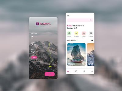 Reservels Concept Travel app map trip outdoor mobile app app clean colors ux ui design booking app travel app design