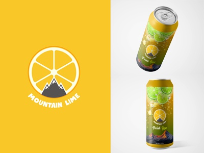 Mountain lime Logo Branding juice clean colors logotype icon ideas identity monogram mark branding logo design logo