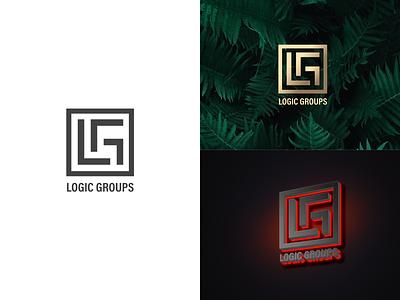 Logic Groups logo mark ideas identity monogram emblem typography branding color concept clean icon design logodesign logo