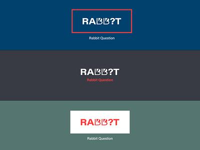 rabbit question logo design emblem concept monogram mark identity colors branding design clean logo