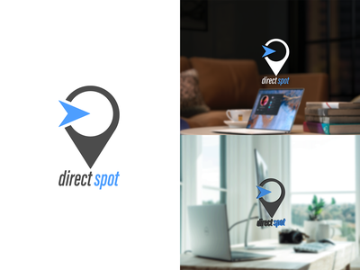 Direct Spot - logo design designer delivery design ideas concept emblem colors clean monogram mark branding logo