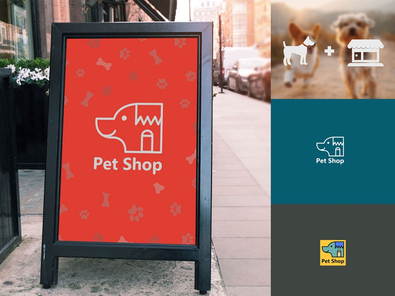 Pet Shop - logo design monogram mark identity ideas branding concept design colors clean logo design logotype logo