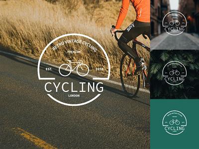 Vintage Cycling   Logo Design badge branding concept design emblem monogram mark logo design logotype logo