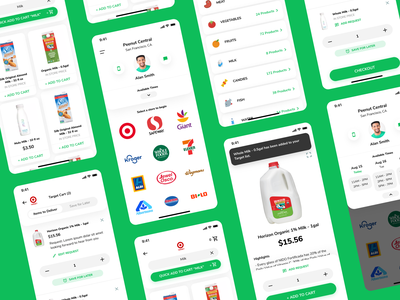 Grocery delivery app driver app courier app user interface design food delivery item mobile page profile page ui mobile app design mobile app mobile design grocery delivery app delivery app grocery app