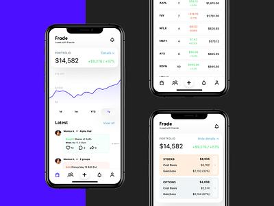 Social app for traders social media social app mobile app design ios app mobile app investing investment portfolio stocks finance option stock trading