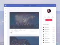 Facebook streaming application concept