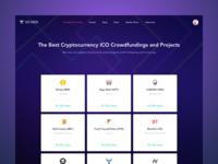 Cryptocurrency ICO crowdfunding monitor platform