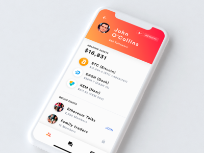 Crypto social app crypto social app bitcoin blockchain wallet exchange discussion ethereum altcoin ios
