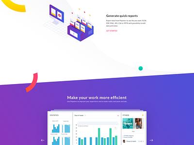 Popsters.us - Social Media Content Analytics Tool webpage dashboard social media social statistics analytics ux ui design illustration landing website