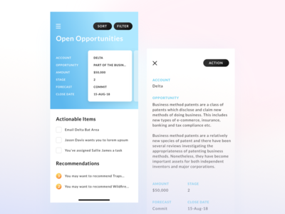 App for consulting company uxui checklist application ios mobile app slider cards to-do accenture business finance consulting