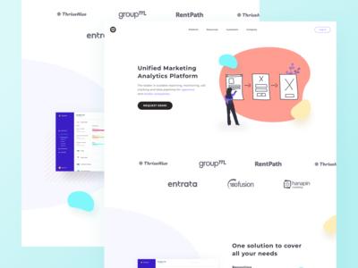 Landing Page for Marketing Analytics Platform