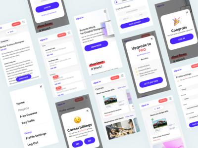 Alpa.io - remote work & free courses for designers