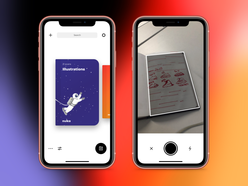 Nuka App - Eternal Notebook Companion photoshop write read scan pencil notebook gradient design apple debut clean app app