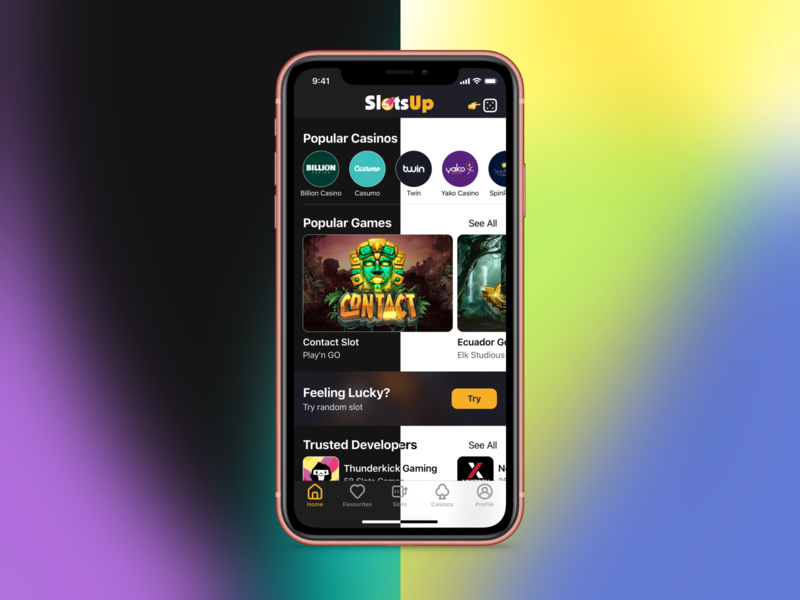 SlotsUp - Online Games Catalog Dark Mode luck slots casino games design apple clean app app dailyui ios13 dark dark mode