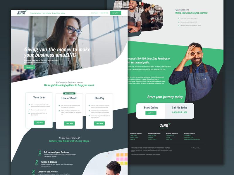 Custom Wordpress Design/Build responsive web ux ui homepage home website design landingpage website financial wordpress