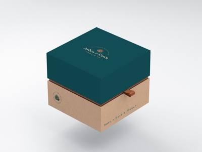 Ashes & Earth Candle Co Packaging branding illustration box design design rendering graphic design graphicdesign box packaging candle