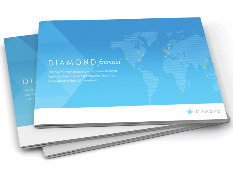 Diamond Financial Brochure logo branding brochure print paper presentation template simple catalog design uncoated stock