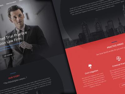 Lawyer UI & Homepage Design