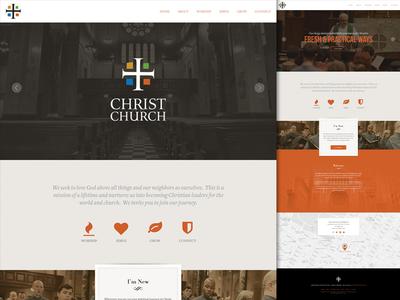 Church website design and UX/UI work