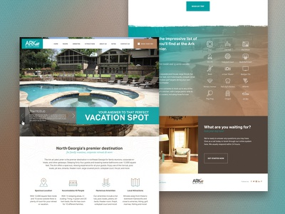 Vacation Rental Website responsive home layout booking icons ux website web design rental vacation ui
