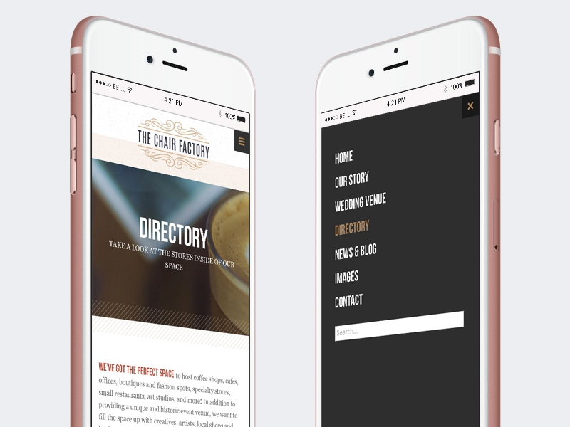 Mobile Version ui design responsive iphone ios7 ui website off-canvas mobile