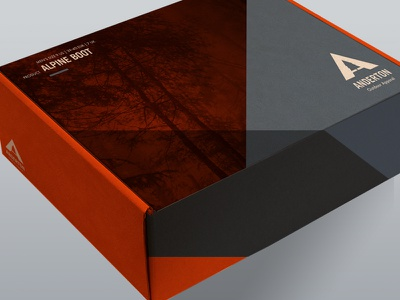 Anderton Apparel Boot Packaging Design illustration package packaging clothing shoes hiking outdoor boots shoe box