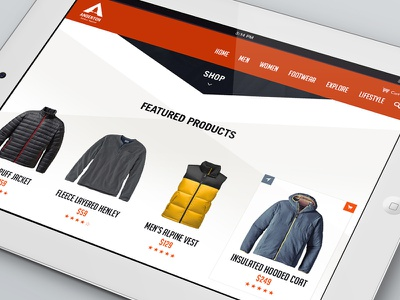 Anderton Apparel Shopping Experience outdoor mobile cart ui clothing apparel ecommerce shop ipad tablet