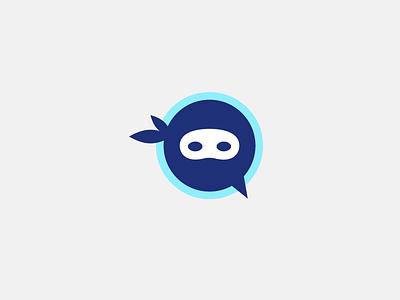 Ninja Number Branding symbol icon chat talkbox brand logomark logo phone branding ninja