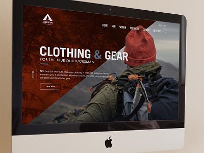 Outdoor Apparel Custom Wordpress Website custom wordpress shop ui web clothing exploring outdoor anderton apparel