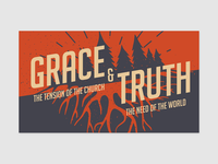 Grace & Truth: Sermon Marketing Graphic