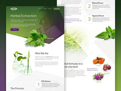 Herbal Landing Page homepage website ui web home landing green plants herbs