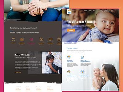 El Nido Website Redesign religious website immigrants babies charity nonprofit ux ui homepage web el nido