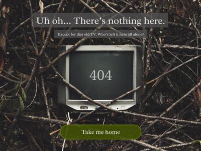 404 page - desktop - DailyUI