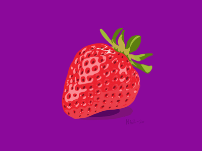 A strawberry strawberry fruit illustration