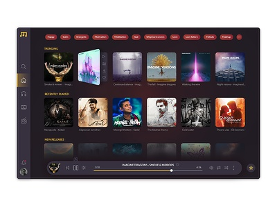 Musio - Home page branding logo ui user interface ux web design flat music dialog box icons app product