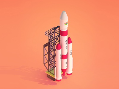I - 36 days of type i 36daysoftype 36daysoftype-05 36days-i gslv india rocket c4d cinema4d rendering render