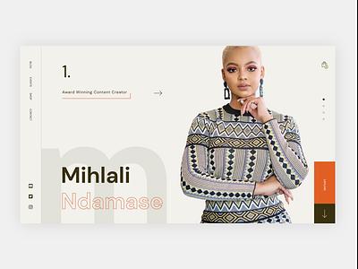 Content Creator - Hero Section modern blogger ecommerce design ux influencer artist minimal grid layout webdesign typography ui