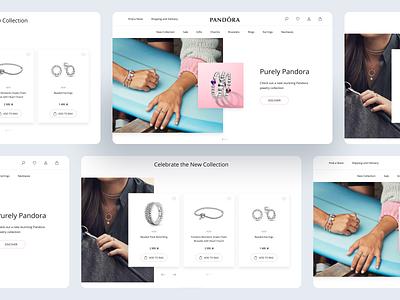 Jewelry shop - Landing page concept 💍 minialism minimal website interface desktop web design ux ui landing page design pandora online store online shop landing ecommerce jewelry shop jewelry landing page