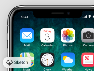 iPhone X GUI + Device model icons apple vector device gui x iphone