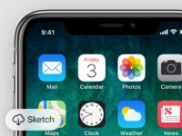 iPhone X GUI + Device model
