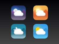 NCWeather Icons design apple 7 ios iphone center notification weather nc
