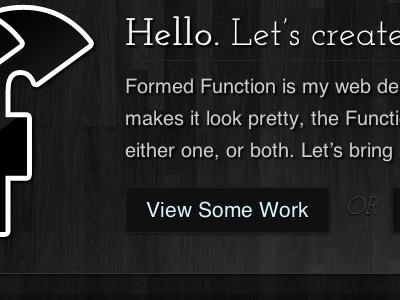 Formed Function dot com v2 wood type dark