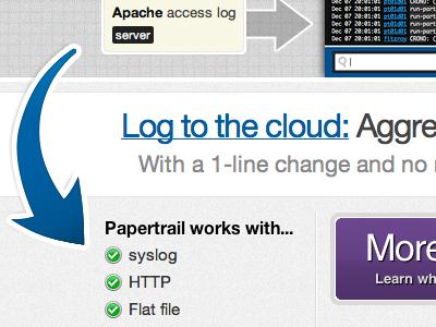 Log to the cloud homepage