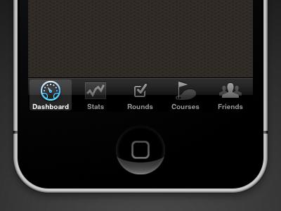 Golf Trac: iPhone Tab Bar iphone ios icons tabs